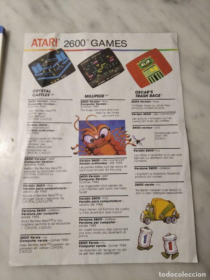 Videojuegos y Consolas: MANUAL INSTRUCCIONES SPACE INVADERS - ATARI - AÑO 1980 + FOLLETO JUEGOS ATARI 2600 - Foto 9 - 243342645