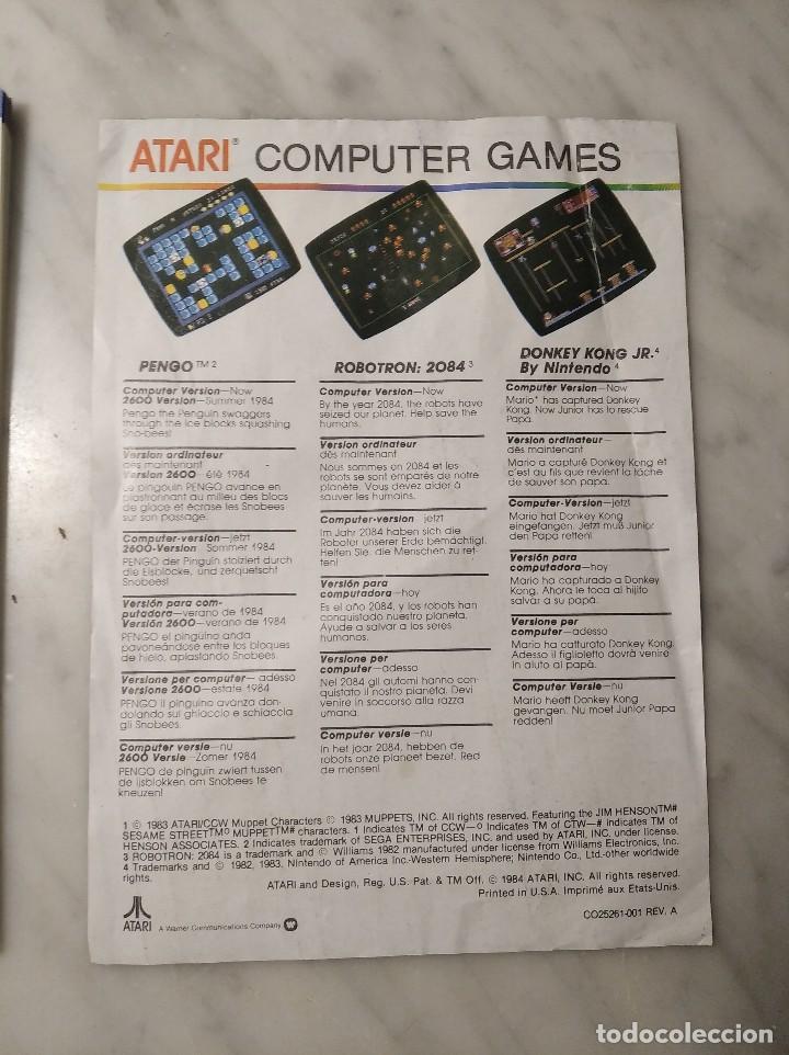 Videojuegos y Consolas: MANUAL INSTRUCCIONES SPACE INVADERS - ATARI - AÑO 1980 + FOLLETO JUEGOS ATARI 2600 - Foto 10 - 243342645