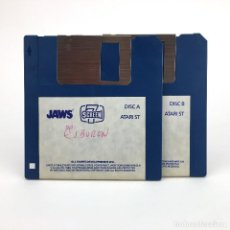 Videojuegos y Consolas: JAWS SCREEN 7 ALL SAINTS DEVELOPMENT 1989 SPIELBERG TIBURON VINTAGE JUEGO RETRO ATARI ST DISKETTE 3½. Lote 243446055