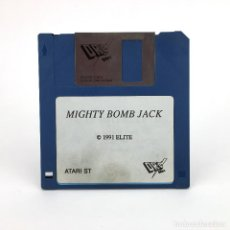 Videojuegos y Consolas: MIGHTY BOMB JACK DRO SOFT SPAIN TECMO ELITE 1991. VIDEO JUEGO RETRO INFORMATICA ATARI ST DISKETTE 3½. Lote 243449455