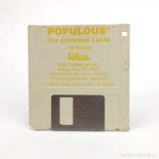 Videojuegos y Consolas: POPULOUS , THE PROMISED LANDS ELECTRONIC ARTS BULLFROG VINTAGE DISK JUEGO RETRO ATARI ST DISKETTE 3½. Lote 243455725