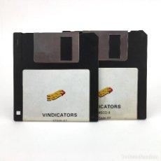 Videojuegos y Consolas: VINDICATORS ERBE ESPAÑA TENGEN DOMARK 1989 ARCADE GAME VINTAGE DISK JUEGO RETRO ATARI ST DISKETTE 3½. Lote 243456575