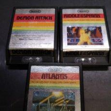 Videojuegos y Consolas: 3 JUEGOS IMAGIC ATARI DEMON ATTACKS ATLANTIS RIDDLE SPHINX. Lote 243791815