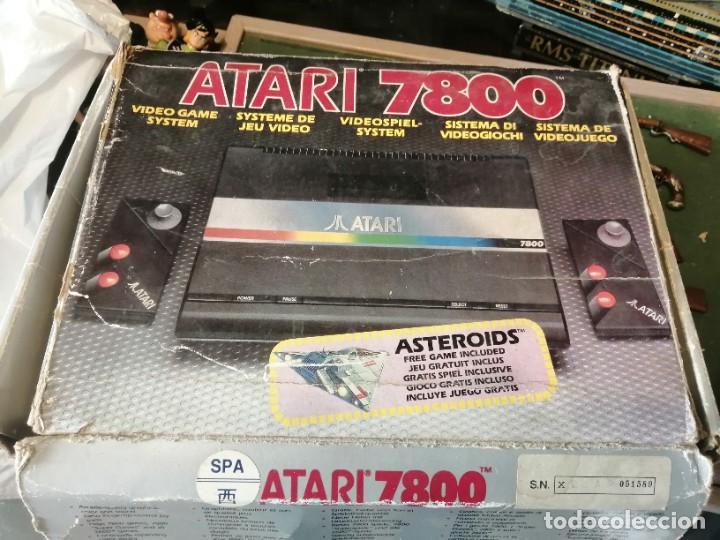 CONSOLA ATARI 7800 COMPLETA CON CAJA Y JUEGOS (Juguetes - Videojuegos y Consolas - Atari)