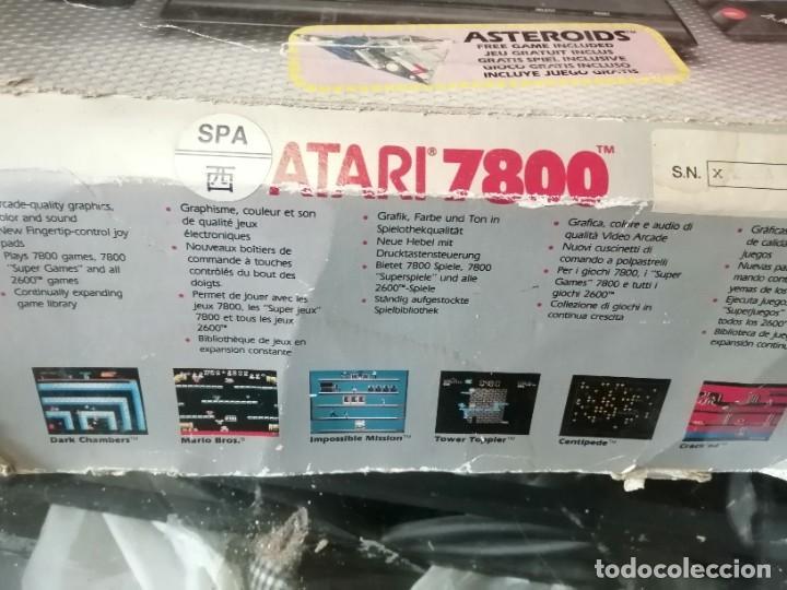 Videojuegos y Consolas: CONSOLA ATARI 7800 COMPLETA CON CAJA Y JUEGOS - Foto 5 - 244542195
