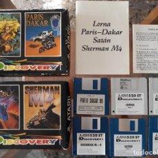 Videojuegos y Consolas: DISCOVERY PACK(LORNA/PARIS-DAKAR [TOPO SOFT/COKTEL VISION] - JUEGO ATARI ST - CAJA MEDIANA. Lote 245514590