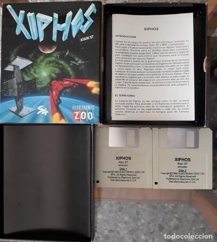 XIPHOS [ELECTRONIC ZOO] - JUEGO ATARI ST - CAJA MEDIANA Y FUNDA (Juguetes - Videojuegos y Consolas - Atari)