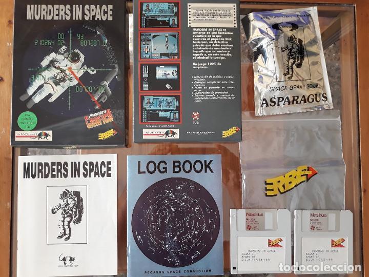 MURDERS IN SPACE [INFOGRAMES] - JUEGO ATARI ST - CAJA MEDIANA Y FUNDA (Juguetes - Videojuegos y Consolas - Atari)