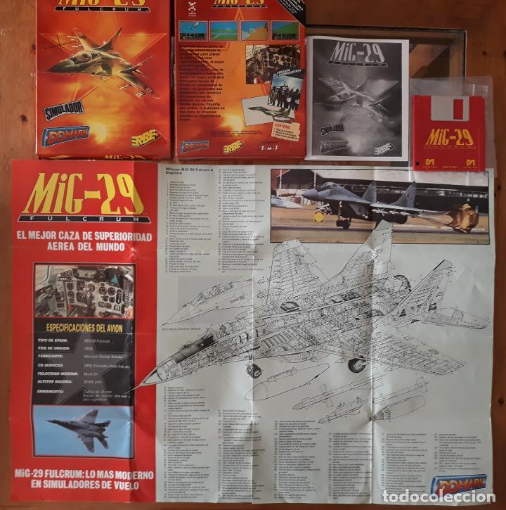MIG-29 FULCRUM [DOMARK] - JUEGO ATARI ST - CAJA MEDIANA Y FUNDA (Juguetes - Videojuegos y Consolas - Atari)