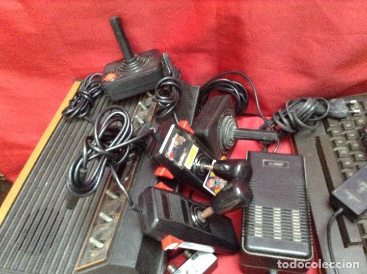 Videojuegos y Consolas: Lote atarí , 2 consolas , 4 mandos transformador ,instrucciones , - Foto 10 - 248095085