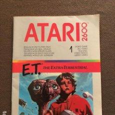 Videojuegos y Consolas: CATALOGO INSTRUCCIONES JUEGO ATARI (E.T.). Lote 251041020