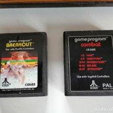 Videojuegos y Consolas: JUEGOS PARA CONSOLA ATARI ANTIGUA. BREAKOUT Y GAME PROGRAM COMBAT. Lote 252197600