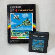 Videojuegos y Consolas: VIDEOJUEGO ATARI - ULTRAVISION - SUNTEK - PYRAMID WAR 4 + CAJA. Lote 253096125