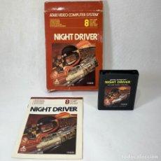 Videojuegos y Consolas: VIDEOJUEGO ATARI - NIGHT DRIVER - CX2633 + CAJA + INSTRUCCIONES. Lote 253104175