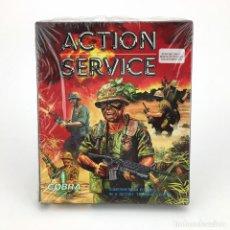 Videojuegos y Consolas: ACTION SERVICE PRECINTADO COBRA SOFT INFOGRAMES 1988 GUERRA COMMAND CAJA GRANDE DISKETTE 3½ ATARI ST. Lote 253944040