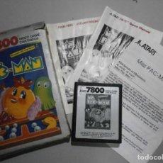 Videojuegos y Consolas: JUEGO ATARI MS PAC MAN VER FOTOS. Lote 254389315