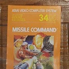 Videogiochi e Consoli: JUEGO ATARI 34 MISSILE COMMAND CX2638 AÑO 1987 NUEVO PRECINTADO. Lote 254455990