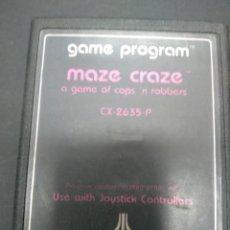 Videojuegos y Consolas: MAZE CRAZE VIDEOJUEGO ATARI 2600 SOLO CARTUCHO. Lote 257279870