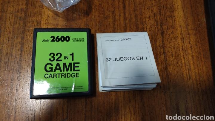 Videojuegos y Consolas: VIDEOCONSOLA ATARI 2600 - COMPLETO EN SU CAJA ORIGINAL FUNCIONANDO COMO NUEVA CON 32 JUEGOS EN UNO - Foto 10 - 260796610