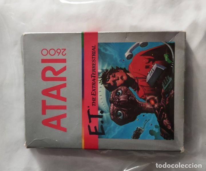 Videojuegos y Consolas: Videojuego original ET Atari (1982) con caja y manual en perfecto estado - Foto 2 - 262102380