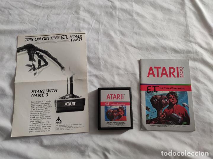 Videojuegos y Consolas: Videojuego original ET Atari (1982) con caja y manual en perfecto estado - Foto 8 - 262102380