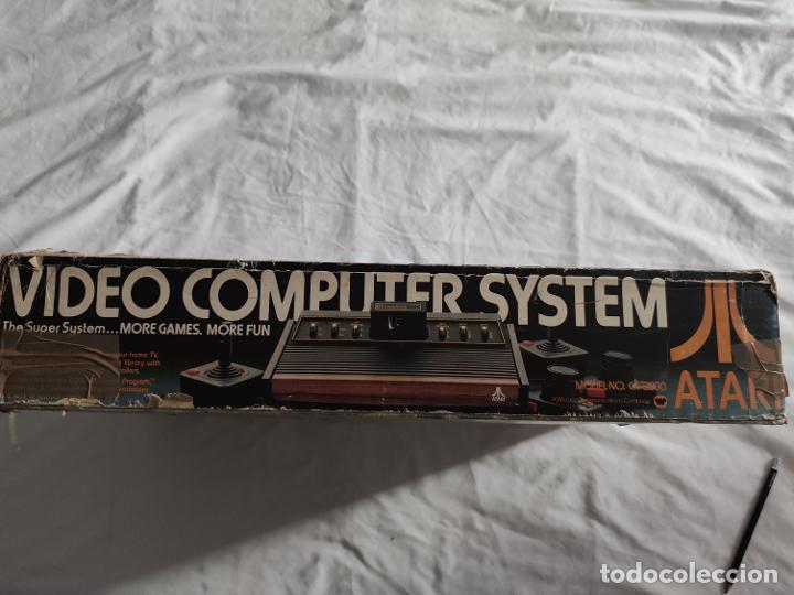 Videojuegos y Consolas: Atari CX-2600 madera y 6 switch excelente conservación, con caja original - Foto 7 - 262103595