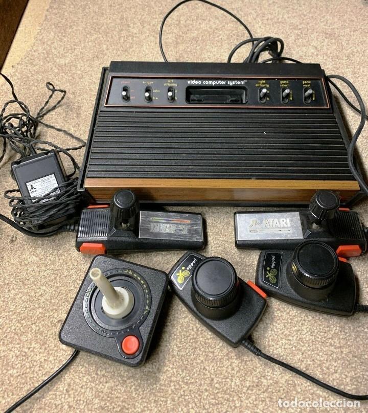 ATARI CX-2600 MADERA Y 6 SWITCH EXCELENTE CONSERVACIÓN, CON CAJA ORIGINAL (Juguetes - Videojuegos y Consolas - Atari)