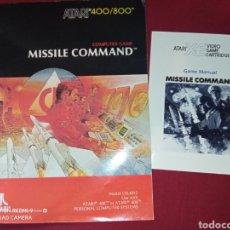 Videojuegos y Consolas: MISSILE COMMAND MANUALES - ATARI 80'S -. Lote 267356299