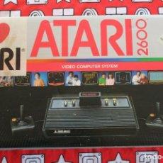 Videojuegos y Consolas: CONSOLA ATARI 2600 4 BOTONES FRONTAL NEGRO CON CAJA BUEN ESTADO LEER DESCRIPCION. Lote 270256778