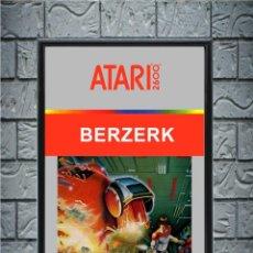 Videojuegos y Consolas: CUADRO BERZERK ATARI CARTEL POSTER VIDEOJUEGO RETRO ENMARCADO 30X20. Lote 271816223