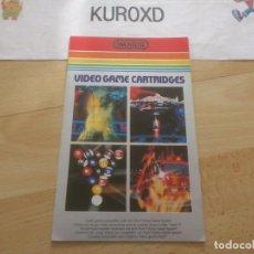 Videojogos e Consolas: PUBLICIDAD CATALOGO ATARI 2600 IMAGIC MUY BUEN ESTADO. Lote 275589178