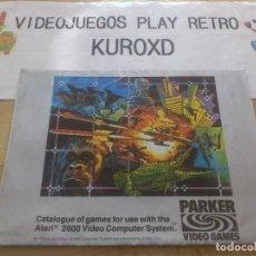 Videojuegos y Consolas: PUBLICIDAD ATARI 2600 JUEGOS PARKER MUY BUEN ESTADO VERSION ESPAÑOLA. Lote 275589323