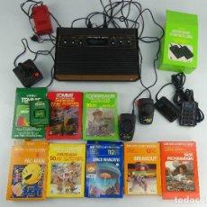 Videojuegos y Consolas: CONSOLA ATARI 2600 CON ACCESORIOS Y JUEGOS. Lote 275750178