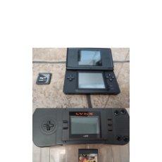 Videojuegos y Consolas: CONSOLA LYNX ATARI Y JUEGO RYGAR MÁS NINTENDO DS LITE CON TARJETA. Lote 274263673