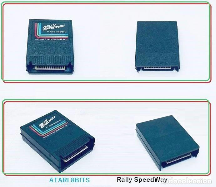 Videojuegos y Consolas: John Anderson´s Rally Speedway [Adventure International] [1983] ATARI 400 800 XE XL 8bits Cartridge - Foto 2 - 28389408