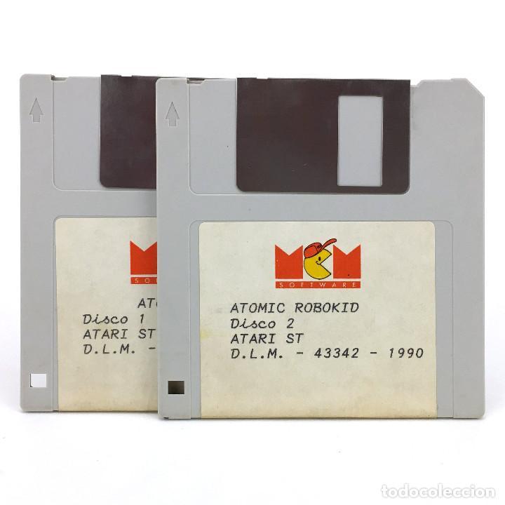 ATOMIC ROBOKID. MCM SOFTWARE ESPAÑA STUDIOS 1990 SHOOTER DISK VIDEO JUEGO RETRO ATARI ST DISKETTE 3½ (Juguetes - Videojuegos y Consolas - Atari)