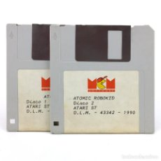 Videojuegos y Consolas: ATOMIC ROBOKID. MCM SOFTWARE ESPAÑA STUDIOS 1990 SHOOTER DISK VIDEO JUEGO RETRO ATARI ST DISKETTE 3½. Lote 287397608