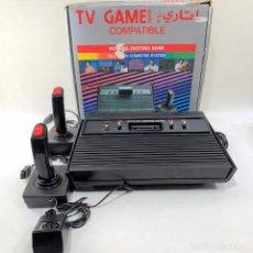 Videojuegos y Consolas: CONSOLA CLÓNICA ATARI TV GAME + CAJA + 2 MANDOS + CABLE - FUNCIONA. Lote 287463513