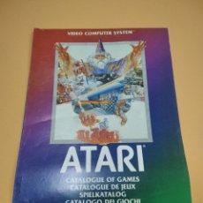 Videojuegos y Consolas: CATALOGO DE JUEGOS DE ATARI 1982. Lote 287727528