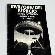 Videojuegos y Consolas: INVASORES DEL ESPACIO SPACE INVADERS INSTRUCCIONES DE JUEGO. Lote 288228978