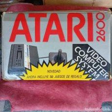 Videojogos e Consolas: CONSOLA ATARI 2600 + CAJA +JUEGO + INSTRUCCIONES + 2 MANDOS + CABLES. Lote 290055243