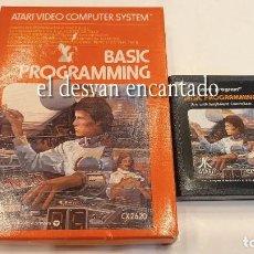 Videojuegos y Consolas: ATARI. BASIC PROGRAMMING. CX2620. ESPAÑOL INCLUIDO. Lote 293542593