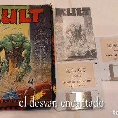 Videojuegos y Consolas: KULT ANTIGUO JUEGO ATARI. CAJA FATIGADA. Lote 294451128