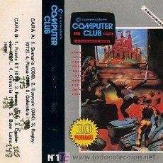 Videojuegos y Consolas: CASETE DE LA REVISTA COMMODORE COMPUTER CLUB Nº 1 CON 10 PROGRAMAS - 1985. Lote 24450293