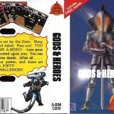 Videojuegos y Consolas: JUEGO CBM64 - GODS & HEROES - 1987. Lote 24450286