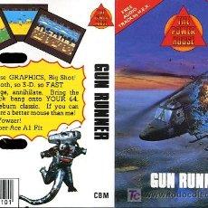 Videojuegos y Consolas: JUEGO COMMODORE - GUN RUNNER - 1987. Lote 24450349