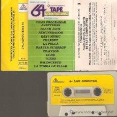 Videojuegos y Consolas: COMMODORE 64 PRESENTA COMO JUGAR AVENTURAS-BLACK JACK-REMUNERADOR-EASY MUSIC-LA PULGA-. Lote 26906420
