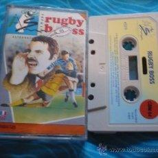 Videojuegos y Consolas: RUGBY BOSS ¡BUEN ESTADO! COMMODORE C64/128 CASSETTE CINTA. Lote 25481926