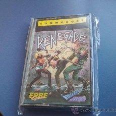Videojuegos y Consolas: RENEGADE COMMODORE CINTA. Lote 29240429