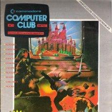 Videojuegos y Consolas: COMPUTER CLUB Nº 1 COMMODORE 64+CASSETTE CON 10 PROGRAMAS. Lote 34632545